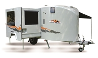 Picture of Mobi Lodge Liberty : 2019 spec adventure caravan including standard kit with special entrance lift and custom interior for wheel chair use at base price of 458 000 as of 15Jan18, plus your choice of Liberty options: