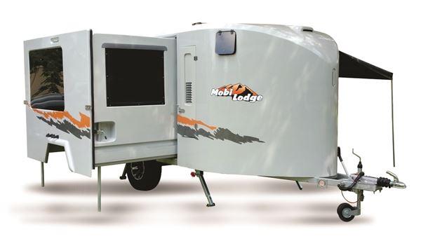 Picture of Mobi Lodge Deluxe 2019c-spec adventure caravan including standard kit, with on-road spec: