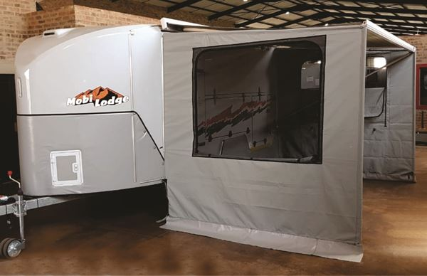 Picture of Custom SP2AD kit with 2x side panels with windows & draft skirt for use with or without crank awning