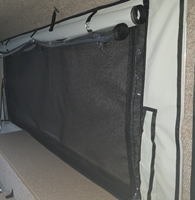 Picture of Custom 3LW 3 layer windows in room & diner for aircon with sail, plastic and fly net