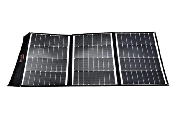 Picture of Flexopower 220W foldable solar panels with integrated legs and regulator