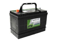Picture of Enertec DC105 105A extra deep cycle battery installed in Mobi Lodge